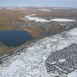 Arctic tundra from air — Stock Photo