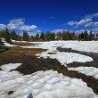 Melting snow in the mountains — Stock Photo #18716885