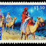 Australia Christmas Postage Stamp — Stock Photo #15703293