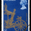Stock Photo: Postage Stamp Anniversary of Queen Elizabeth 2nd Coronation