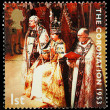 Postage Stamp 50th Anniversary of Queens Coronation — Stock Photo