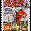 United States Superhero Postage Stamp - Stock Photo