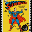 Stock Photo: United States Superhero Postage Stamp