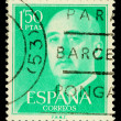 Spanish Franco Postage Stamp — Stock Photo