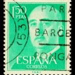 Spanish Franco Postage Stamp — Stock Photo #15703257
