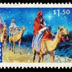 Australia Christmas Postage Stamp — Stock Photo