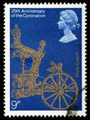 Postage Stamp Anniversary of Queen Elizabeth 2nd Coronation — Stock Photo