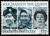 切手 60 歳の誕生日の女王エリザベス 2 — ストック写真