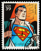 United States Superhero Postage Stamp — Foto Stock