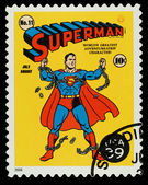 United States Superhero Postage Stamp — Stock Photo