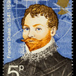Sir Francis Drake Famous Explorer Postage Stamp — Stock Photo