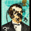 David Livingstone Famous Explorer Postage Stamp — Stock Photo