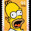 Simpsons TV Show Postage Stamp — Stock Photo