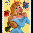 Disney Sleeping Beauty Postage Stamp — Stock Photo