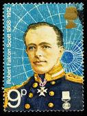 Captain Scott Famous Polar Explorer Postage Stamp — Stock Photo