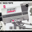 Britain BBC 50th Anniversary Postage Stamps — Stock Photo