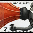Britain BBC 50th Anniversary Postage Stamp — Stock Photo
