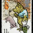 Britain Winnie the Pooh Postage Stamp — Stock Photo