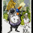 Britain Wind in the Willows Postage Stamp — Stock Photo