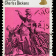 Britain Charles Dickens Postage Stamp — Stock Photo
