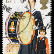 Britain Girls Brigade Postage Stamp — Stock Photo