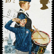 Britain Boys Brigade Postage Stamp — Stock Photo