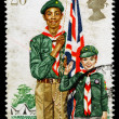 Britain Boy Scout Postage Stamp — Stock Photo