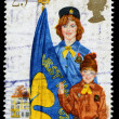 Britain Girl Guide Postage Stamp — ストック写真