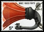 Britain BBC 50th Anniversary Postage Stamp — Stock Photo