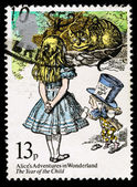 Britain Alice in Wonderland Postage Stamp — Stock Photo