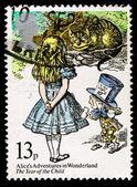 Britain Alice in Wonderland Postage Stamp — Stock Photo