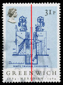 Britain Greenwich Meridian Postage Stamp — Stock Photo