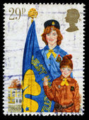 Britain Girl Guide Postage Stamp — Stock Photo