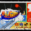 Britain Safety at Sea Postage Stamp — Stock Photo