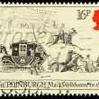 Britain Mail Coach Postage Stamp — Stock Photo