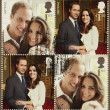 Kate Middleton and Prince William Royal Wedding Stamps — Stock Photo