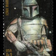 Star Wars Boba Fett Postage Stamp - Stock Photo