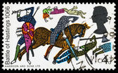 Britain Battle of Hastings Postage Stamp — Stock Photo