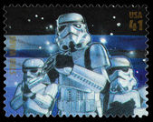 Star Wars Storm Trooper Postage Stamp — Stok fotoğraf