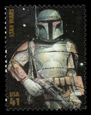 Star Wars Boba Fett Postage Stamp — Stock Photo
