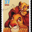 Stock Photo: Disney Lion King Postage Stamp