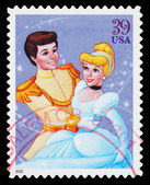 Disney Cinderella and Prince Charming Postage Stamp — Stock Photo