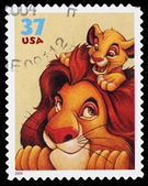 Disney Lion King Postage Stamp — Stock Photo