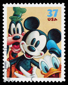 Disney Mickey Mouse Postage Stamp — Stock Photo