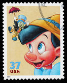 Disney Pinnocchio Postage Stamp — Stock Photo