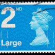 Britain Queen Elizabeth 2nd Postage Stamp — ストック写真