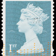 Britain Queen Elizabeth 2nd Postage Stamp — Stock Photo #22519731