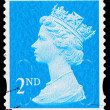 Britain Queen Elizabeth 2nd Postage Stamp — 图库照片