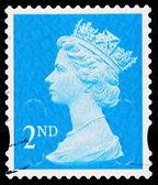 Britain Queen Elizabeth 2nd Postage Stamp — Stock Photo