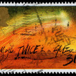 Britain Halleys Comet Postage Stamp — Stock Photo